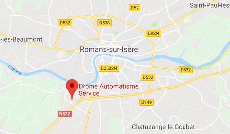 Position de Drome Automatisme Service sur la carte